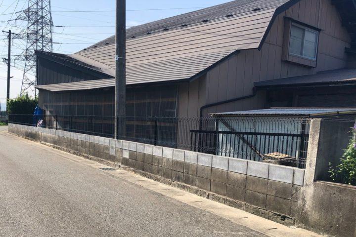 既存擁壁撤去・フェンス工事