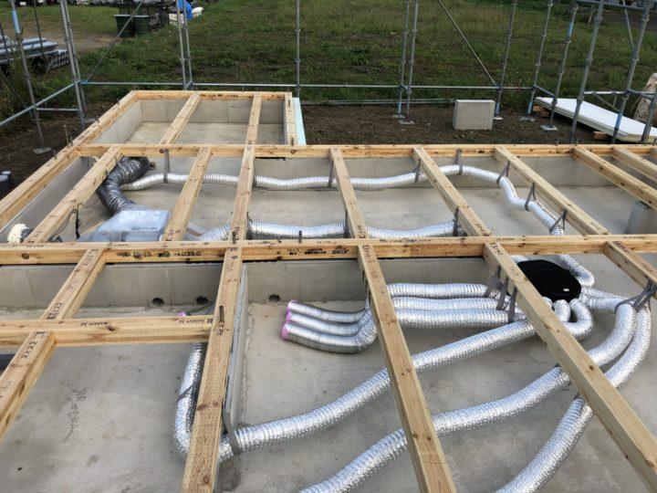二戸市T様邸 基礎工事完了・浄化槽設置完了・床下への1種換気設置完了